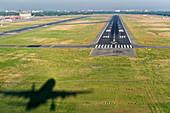 Approaching runway 26R, Berlin-Tegel Airport (EDDT / TXL)