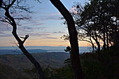 Malawi; Northern Region; Foothills of the Nyika Mountains near Livingstonia; View of Lake Malawi at dusk