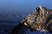 Blick vom Zugspitzplatt, Zugspitze, Garmisch-Partenkirchen, Werdenfelser Land, Oberbayern, Bayern, Deutschland