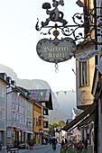 Facade in Ludwigstrasse, Partenkirchen, Garmisch-Partenkirchen, Werdenfelser Land, Upper Bavaria, Bavaria, Germany