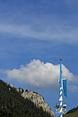 Maibaum, Fischbachau, Leitzachtal, Oberbayern, Bayern, Deutschland