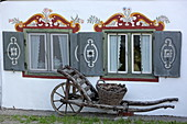 Lüftlmalerei eines Bauernhauses, Schliersee, Oberbayern, Bayern, Deutschland