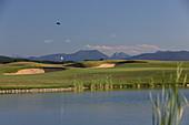 Golf course Valley, Holzkirchen, Upper Bavaria, Bavaria, Germany