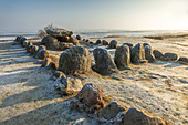 Stone Age stone circle Harhoog in Keitum, Sylt, Schleswig-Holstein, Germany