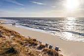 West beach near List, Sylt, Schleswig-Holstein, Germany
