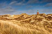 Rotes Kliff lighthouse in Kampen, Sylt, Schleswig-Holstein, Germany