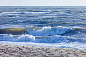 Surf on the west beach of Kampen, Sylt, Schleswig-Holstein, Germany