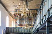 Interior of the Church of St. Severin in Keitum, Sylt, Schleswig-Holstein, Germany