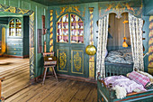 Bed chamber in the Old Frisian House from 1640 on Keitumer Watt, Sylt, Schleswig-Holstein, Germany