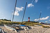 Beach and lighthouse of Hörnum, Sylt, Schleswig-Holstein, Germany