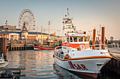 Rescue cruiser in the port of List, Sylt, Schleswig-Holstein, Germany