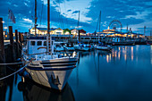 Evening mood in the Lister harbor, Sylt, Schleswig-Holstein, Germany