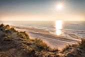 View from the dunes to the west beach of Kampen, Sylt, Schleswig-Holstein, Germany