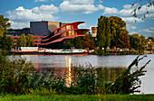 Tiefer See, Havel, Hans Otto Theather, Schiffbauergasse cultural site, Potsdam, Brandenburg state, Germany