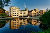 Old drive of the Havel, building of the Humboldtstrasse, Palais Barberini,, Potsdam, Land Brandenburg, Germany