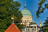 Gatehouse on the Friendship Island, Nikolaikirche and Old Town Hall, Potsdam, Brandenburg State, Germany