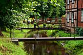 Stadtkanal, Boizenburg, Mecklenburg-Vorpommern, Deutschland