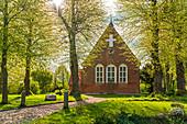 Blick auf die St.Jürgen-Kirche zu Grube, Ost-Holstein, Schleswig-Holstein, Deutschland