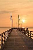 Seebrücke Dahme am Morgen, Ostsee, Schleswig-Holstein, Deutschland