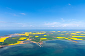 Fehmarn island from the air, Baltic Sea, Ohrt, East Holstein, Germany