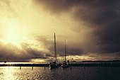Segelboote im Hafen von Ohrt, Fehmarn Ostsee, Ostholstein, Schleswig-Holstein, Deutschland