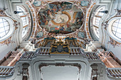 View to the ceiling of the Cathedral of Sankt Jakob in Innsbruck, Tyrol, Austria