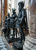 The larger than life bronze statues in the Court Church of Innsbruck, Tyrol, Austria