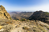 "View from the ""Pico de las Nieves"" viewpoint in the high mountains of Gran Canaria, Spain"