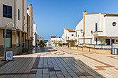 Pedestrian zone in the port of Agaete in the west of Gran Canaria, Spain