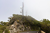 """Pico del Ingles"" viewpoint with clouds in the Anaga mountains, Tenerife, Spain"