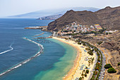 "View of ""Playa de las Teresitas"" - popular beach in the northeast of Tenerife, Spain"