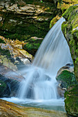 Waterfall, Kuhfluchtfälle, Estergebirge, Werdenfelser Land, Werdenfels, Bavarian Alps, Upper Bavaria, Bavaria, Germany
