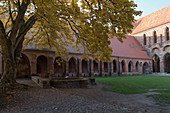 Autumn at the Chorin monastery in Barnim in Brandenburg