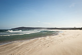 Back Beach in Angourie is one of the famous surfing spots around Yamba in New South Wales, Australia
