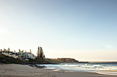 Sunrise at Convent Beach in Yamba in New South Wales, Australia.