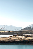 Winter at the Church of the Good Shepherd on Lake Tekapo in Canterbury, New Zealand.