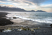 Clarence River at Kaikoura in the Kaikoura District, New Zealand.