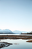 Winter at Lake Tekapo on the South Island in New Zealand.