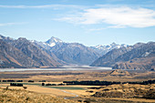 Mount Sunday is located in Canterbury District on the South Island in New Zealand.