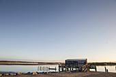 Sunset at Okarito Lagoon on the West Coast of New Zealand