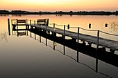 You can enjoy the sunset on the jetty of the Panorama Hotel am Oberuckersee-