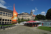 """Flame of the Revolution"" in downtown Halle (Saale) am Hansering, Halle an der Saale in Saxony-Anhalt"