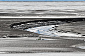 The mudflats on the North Sea near Duhnen, Cuxhaven district, Lower Saxony