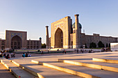Registan square in the ancient city of Samarkand. Sammarcanda, Uzbekistan, Central Asia.