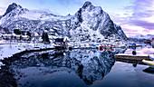 Seaport of Svolvear, Lofoten Islands, Svolvear district, Nordland, Norway