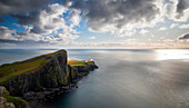 Neist Point lighthouse, Waterstein. Isle of Skye, Scotland, UK