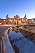 Plaza de Espana at sunrise, Andalucia, Sevilla district, Spain