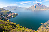 The gulf of Varenna, Como lake, Lombardy, Italian alps, Italy