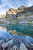Lake Boccuto, Eugio valley, Locana, Orco Valley, Gran Paradiso National Park, Piedmont, Italian alps, Italy