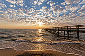 View of the Ostermade pier, Baltic Sea, Ostholstein, Schleswig-Holstein, Germany